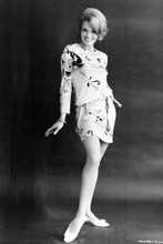 Angie Dickinson 1960's full length glamour pose in mini skirt 4x6 inch photo