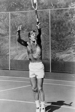 robert Redford beefcake 1970's bare chest pose playing tennis 4x6 inch photo