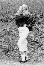 Traci Lords full length pose in leather jacket Cry Baby 4x6 inch real photo