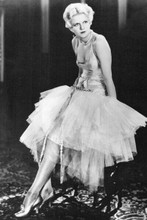 jean Harlow beautiful glamour portrait full length in low cut gown 4x6 photo