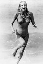 Bo derek in swimsuit running through surf from 10 4x6 inch real photo