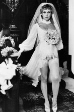 Season Hubley in low cut wedding gown & stockings Vice Squad 1981 4x6 inch photo