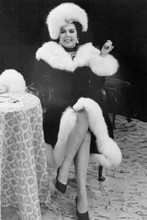 Ann Miller smiling seated glamour pose in fur trimmed coat & hat 4x6 inch photo