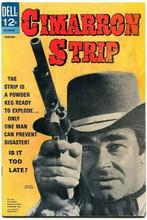 Cimarron Strip TV Dell Comics cover art Stuart Whitman aims pistol 8x12 photo