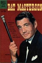 Bat Masterson western Dell Comic book cover art Gene Barry with cane 8x12 photo