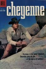 Cheyenne western Dell Comic book cover artwork Clint Walker with gun 8x12 photo