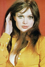 Madeline Smith legendary British 1970's pin-up shows huge cleavage 8x12 photo