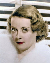 Bette Davis beautiful young portrait 1930's era with white fur 8x10 inch photo
