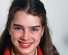 Brooke Shields lovely smiling 1970's studio publicity portrait 8x10 inch photo