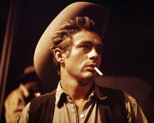 James Dean looks cool smoking cigarette as Jet Rink from Giant 8x10 inch photo