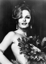Valerie Perrine portrait holding feathers to chest 1974 movie Lenny 5x7 photo