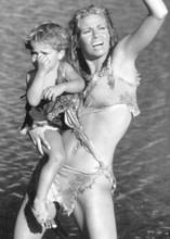 One Million Years BC Raquel Welch as cavegirl Loana holding child 5x7 inch photo
