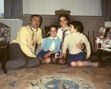 Natalie Wood 1970's pose with husband Richard Gregson & children 8x10 inch photo