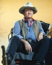 John Wayne sits on stagecoach Glen Campbell Goodtime Hour 1969 8x10 inch photo