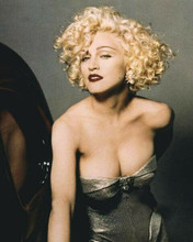 Madonna classic pose as Breathless showing cleavage 1990 Dick Tracy 8x10 photo