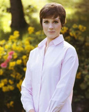 Julie Andrews lovely 1960's smiling portrait in pink shirt 8x10 inch photo