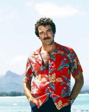 Tom Selleck wearing his classic red hawaiian shirt as Thomas Magnum 8x10 photo