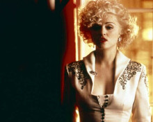 Madonna in low cut white dress as Breathless in 1990 Dick Tracy 8x10 inch photo
