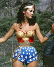 Lynda Carter looks stunning in her Wonder Woman outfit doing twirl 8x10 photo