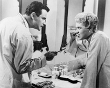Phffft! 1954 Jack Lemmon & Judy Holliday brush teeth in bathroom 8x10 inch photo
