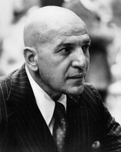 Telly Savalas in pin striped suit as Kojak 8x10 inch photo