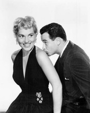 Phffft! 1954 Jack Lemmon kisses Judy Holliday's shoulder 8x10 inch photo