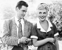 It Should Happen To You Jack Lemmon & Judy Holliday smiling pose 8x10 inch photo