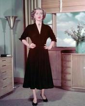 Bette Davis striking full length pose in black dress 1940's 8x10 inch photo