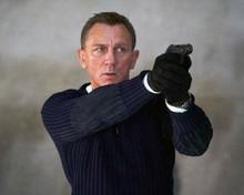 Daniel Craig as James Bond pointing gun No Time To Die 8x10 inch photo