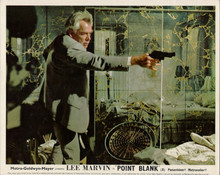 Point Blank 1967 Lee Marvin pointing gun 8x10 inch photo