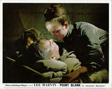 Point Blank Lee Marvin lies in bed Sharon Acker about to kiss him 8x10 photo