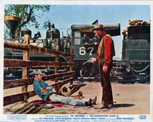 The Magnificent Seven cowboy pulls gun on sleeping James Coburn 8x10 inch photo