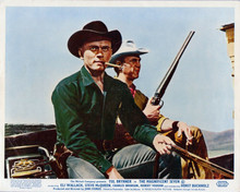 The Magnificent Seven Yul brynner Steve McQueen ride coffin wagon 8x10 photo