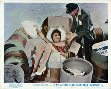 It's A Mad Mad Mad Mad World Berle helps Merman out of trash box 8x10 inch photo