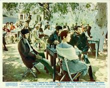 Guns of Navarone Peck Darren Niven & Scala sing in Greek village 8x10 inch photo