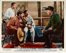 The Magnificent Seven 1960 Yul Brynner listens to Mexican men 8x10 inch photo