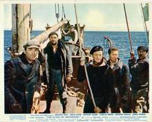 Guns of Navarone Peck Baker Darren Niven Quayle & Quinn on boat 8x10 inch photo