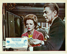 The Killers 1964 Ronald Reagan & Angie Dickinson raid safe of cash 8x10 photo