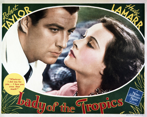 This is an image of Vintage Reproduction Lobby Card of Lady of the Tropics 295027