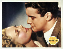 This is an image of Vintage Reproduction Lobby Card of My Lucky Star 295032