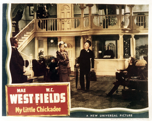 This is an image of Vintage Reproduction Lobby Card of My Little Chickadee 295033