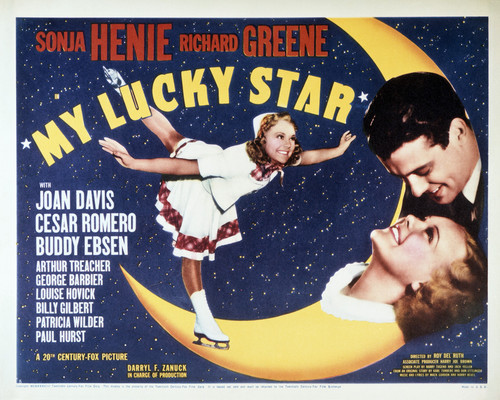 This is an image of Vintage Reproduction Lobby Card of My Lucky Star 295034