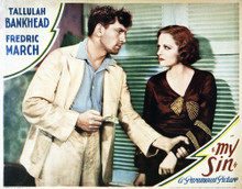 This is an image of Vintage Reproduction Lobby Card of My Sin 295035