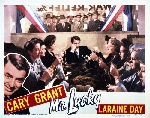 This is an image of Vintage Reproduction Lobby Card of Mr. Lucky 295048