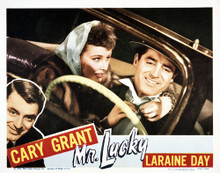 This is an image of Vintage Reproduction Lobby Card of Mr. Lucky 295050