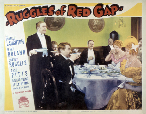 This is an image of Vintage Reproduction Lobby Card of Ruggles of Red Gap 295073