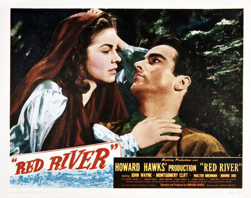 This is an image of Vintage Reproduction Lobby Card of Red River 295235