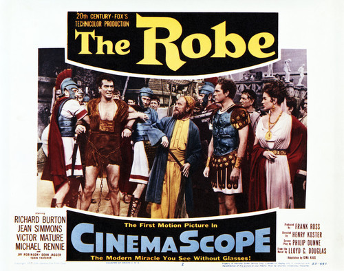 This is an image of Vintage Reproduction Lobby Card of The Robe 295237