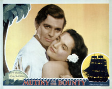 This is an image of Vintage Reproduction Lobby Card of Mutiny on the Bounty 295240