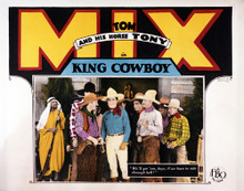 This is an image of Vintage Reproduction Lobby Card of King Cowboy 295255